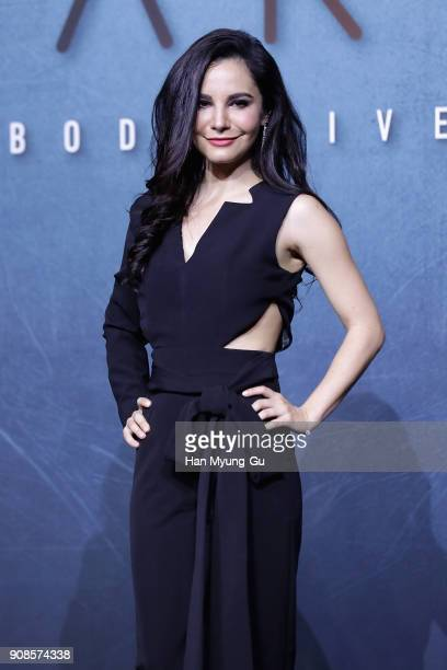 Actress Martha Higareda attends the press conference for NETFLIX's 'Altered Carbon' on January 22 2018 in Seoul South Korea