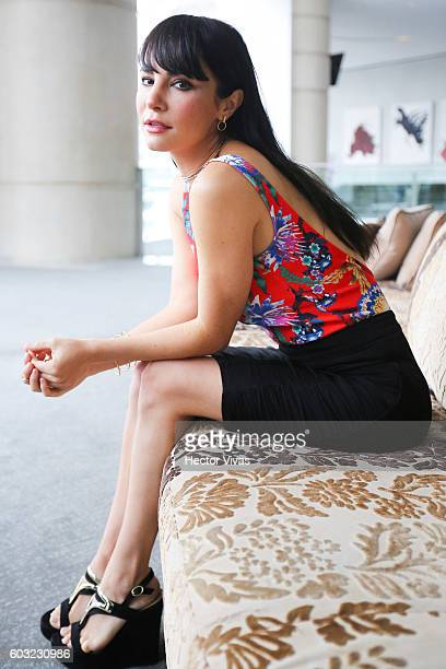 actress Martha Higareda poses for pictures prior a press conference to present the movie No Manches Frida at The St Regis on September 12 2016 in...