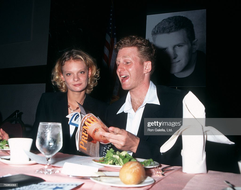 Actress Martha Plimpton and Michael Rapaport attending 56th Annual Motion Pictures Club Awards on October 12, 1995 at New York Hilton Hotel in New York City, New York.