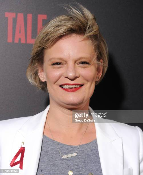 Actress Martha Plimpton arrives at the premiere of Hulu's 'The Handmaid's Tale' at ArcLight Cinemas Cinerama Dome on April 25 2017 in Hollywood...