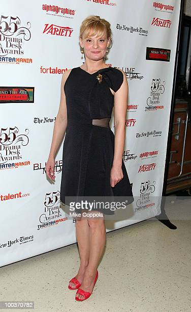 Actress Martha Plimpton arrives at the press room for the 55th Annual Drama Desk Awards at the FH LaGuardia Concert Hall at Lincoln Center on May 23...