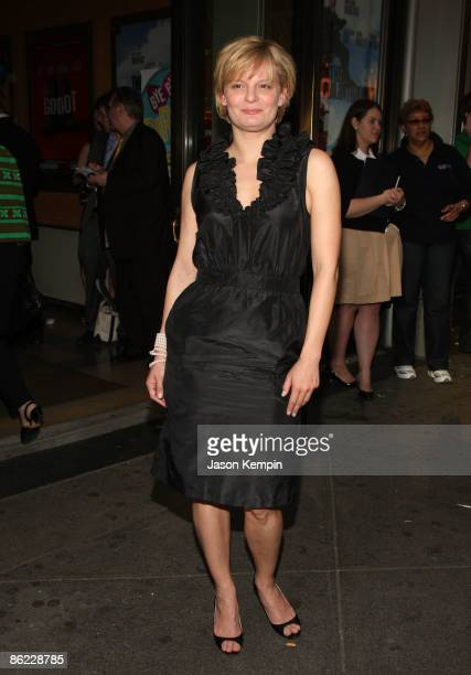 Actress Martha Plimpton attends the opening night of 'The Philanthropist' on Broadway at the Roundabout Theatre Company's American Airlines Theatre...