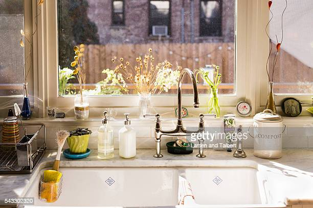 Actress Martha Plimpton is photographed in her home for People Magazine on March 9 2016 in Brooklyn New York