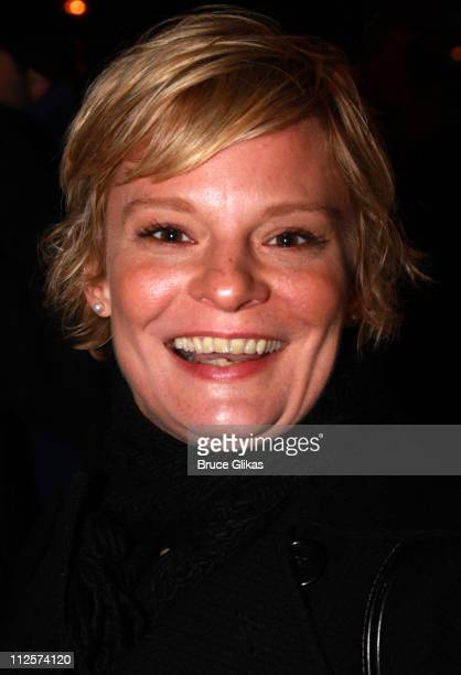 Actress Martha Plimpton poses at the Opening Night arrivals for the new musical 'Passing Strange' at the Belasco Theatre on February 28 2008 in New...