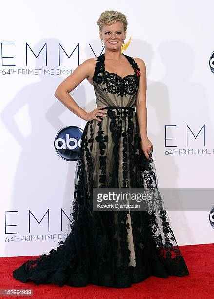 Actress Martha Plimpton poses in the press room during the 64th Annual Primetime Emmy Awards at Nokia Theatre LA Live on September 23 2012 in Los...