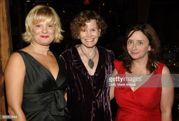 Actress Martha Plimton Author Judy Blume and Comedian Rachel Dratch attend the National Coalition Against Censorship's 35th Anniversary Free Speech...