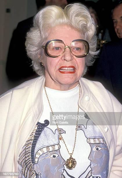 Actress Martha Raye attends the Sixth Annual American Cinema Awards Rehearsals on January 5 1989 at Beverly Hilton Hotel in Beverly Hills California