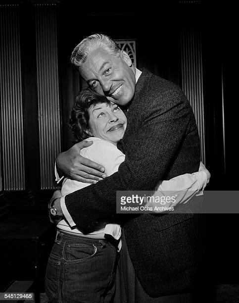 Actress Martha Raye poses with actor Cesar Romaro for the The Martha Raye Show in New York New York