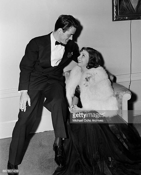 Actress Martha Raye with friend attend an event in Los Angeles California