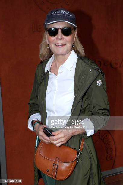 Actress Marthe Keller attends the 2019 French Tennis Open - Day One at Roland Garros on May 26, 2019 in Paris, France.