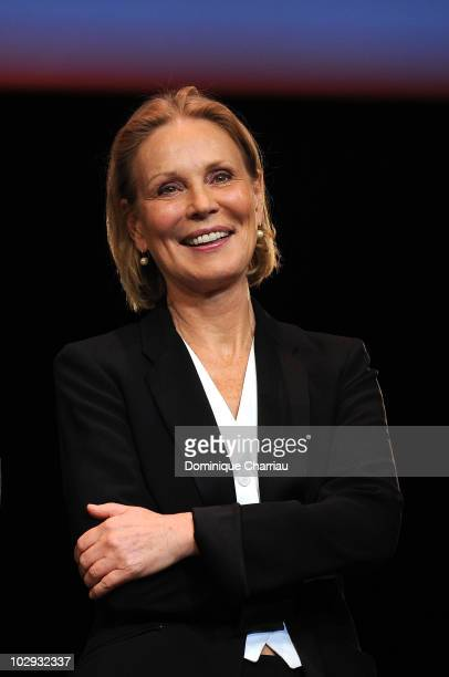 Actress Marthe Keller attends the Clint Eastwood Award Ceremony during the Lumiere Film Festival in Lyon on October 17 2009 in Lyon France