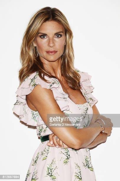 Actress Martina Colombari attends a photocall for Swisse Introduces The New Brand Ambassador Martina Colombari on July 11 2017 in Milan Italy