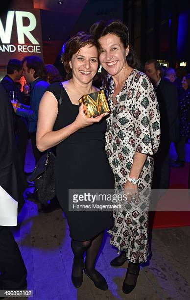 Actress Martina Gedeck and Bettina Reitz during the 5th German Director Award Metropolis at HFF on November 8 2015 in Munich Germany