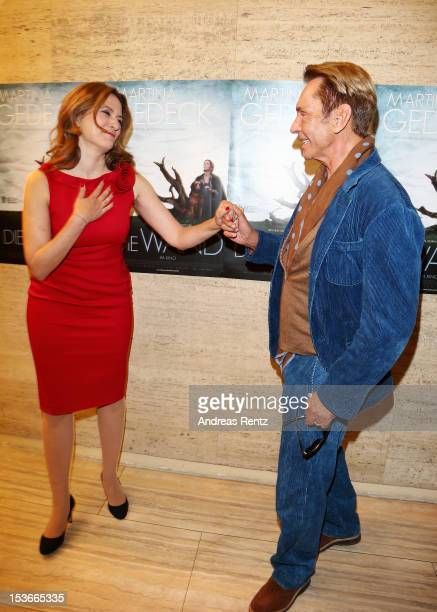 Actress Martina Gedeck and Wolfgang Joop attend the 'Die Wand' Berlin preview at Astor Lounge on October 8 2012 in Berlin Germany