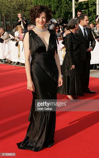 Actress Martina Gedeck arrives at the German Film Awards at the Palais am Funkturm May 12 2006 in Berlin Germany