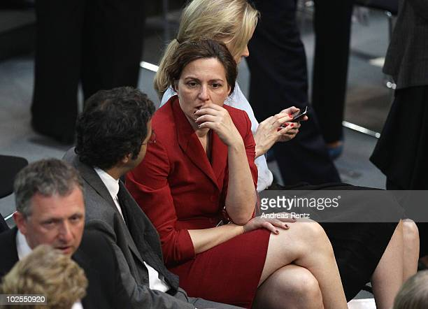 Actress Martina Gedeck reacts during the third round of voting during the election of a new German president by the Federal Assembly on June 30 2010...