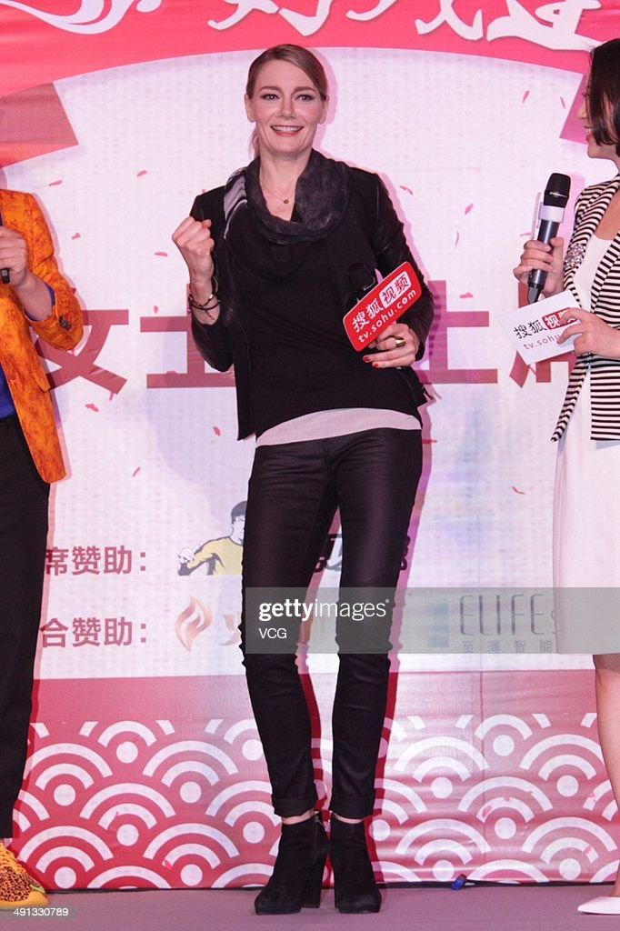 German Actress Martina Hill Visits China