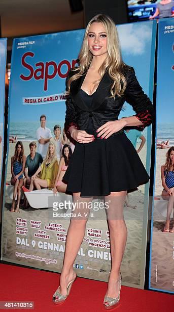 Actress Martina Stella attends 'Sapore Di Te' premiere at Cinema Adriano on January 8 2014 in Rome Italy