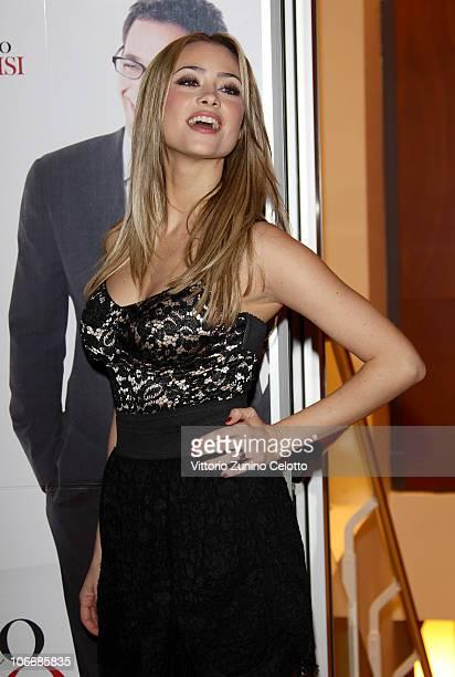 Actress Martina Stella attends the 'Ti Presento Un Amico' Milan Premiere held at Cinema Apollo on November 10 2010 in Milan Italy