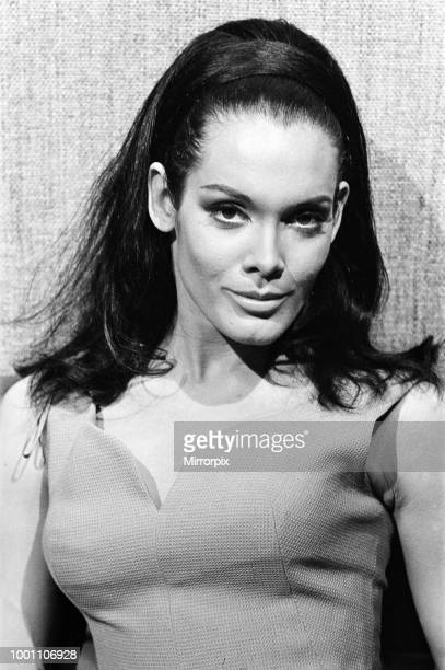 Actress Martine Beswick on the set of 'Thunderball' at Pinewood Studios Buckinghamshire 12th March 1965