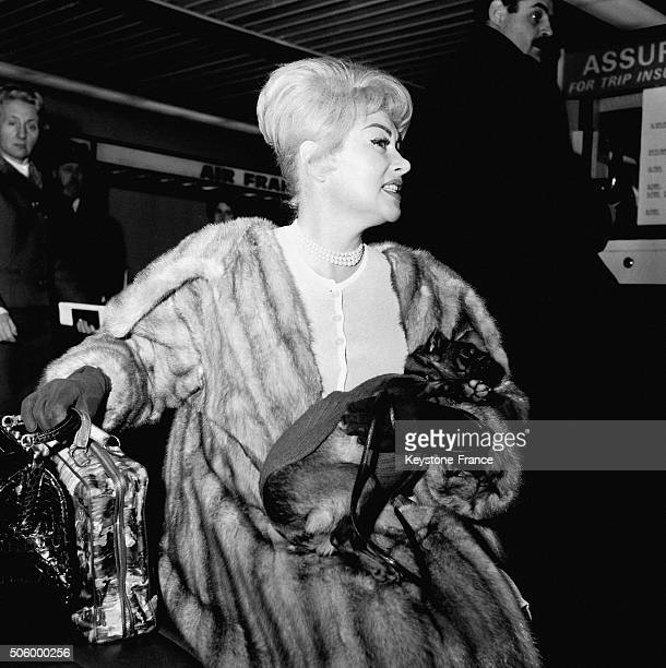 Actress Martine Carol Leaving For Tahiti At Paris Orly Airport in Orly France on January 11 1963