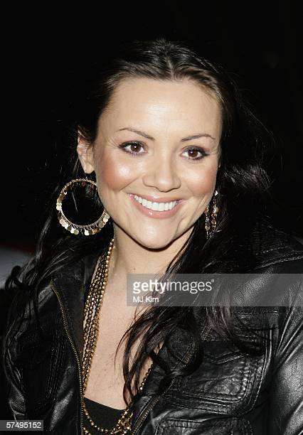 Actress Martine McCutcheon arrives at Gumball 3000 film premiere 2006 rally launch party at Savoy Place on April 29 2006 in London England