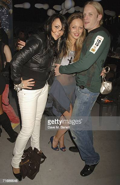 Actress Martine McCutcheon Jamie Wood and Jamie's partner attend the Rolling Stones after show party at Ronnie Wood's home on August 20 in Kingston...