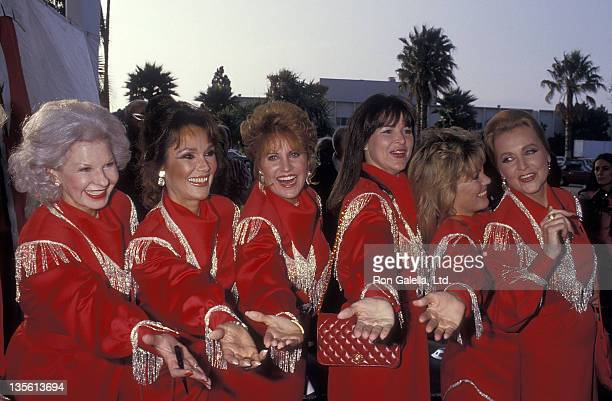 Actress Mary Ann Mobley actress Lorna Luft actress Kathryn Holcomb and Anne Jeffreys attend the 34th Annual SHARE Boomtown Party on May 16 1987 at...