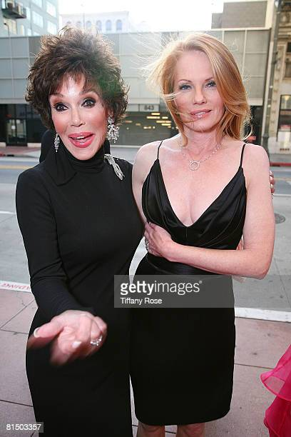 Actress Mary Ann Mobley and Actress Marg Helgenberger arrive at What a Pair 6 at The Orpheum Theatre on June 8 2008 in Los Angeles CA