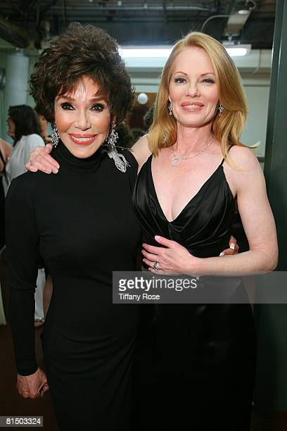 Actress Mary Ann Mobley and Actress Marg Helgenberger pose at What a Pair 6 at The Orpheum Theatre on June 8 2008 in Los Angeles CA