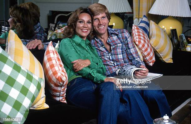 Actress Mary Ann Mobley and her husband actor Gary Collins pose for a portrait in their home in circa 1980 in Los Angeles California