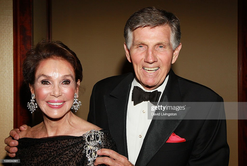 Actress Mary Ann Mobley and husband actor Gary Collins attend the Eagle & Badge Foundation Gala Honors at the Hyatt Regency Century Plaza on August 21, 2010 in Century City, California.