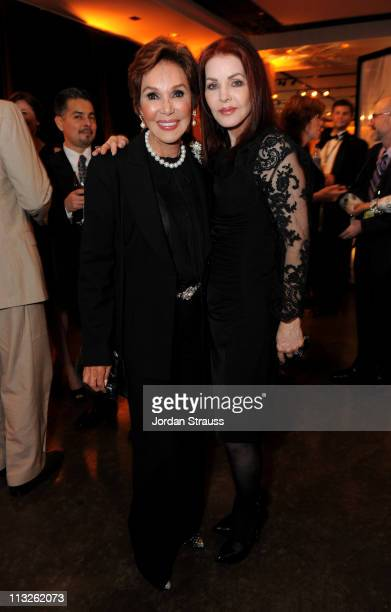Actress Mary Ann Mobley and Priscilla Presley attend Day 1 of TCM Classic Film Festival 2011 at The Annex on April 28 2011 in Los Angeles California...