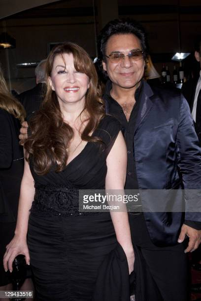 Actress Mary Apick and singer Andy Madadian at 'Beneath The Veil' Post Play Reception at Alex Theatre on March 11 2011 in Glendale California