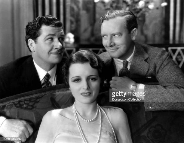 Actress Mary Astor and George Bancroft and Rowland Lee in a scene from the movieLadies Love Brutes