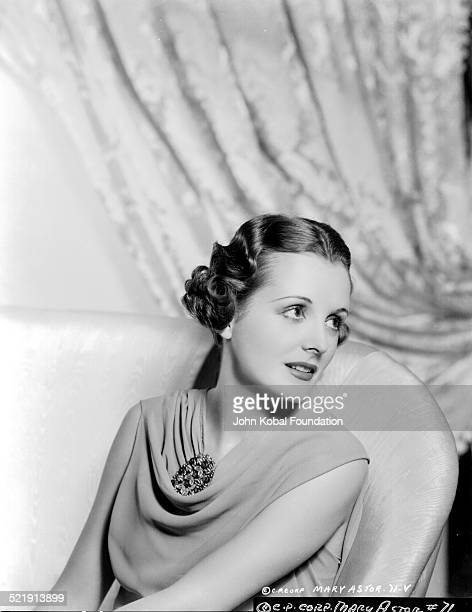 Actress Mary Astor in a promotional shot for Columbia Pictures 1938
