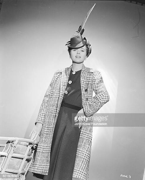 Actress Mary Astor in a promotional shot wearing a long feathered hat circa 19301945