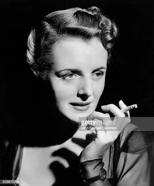 Actress Mary Astor with Cigarette
