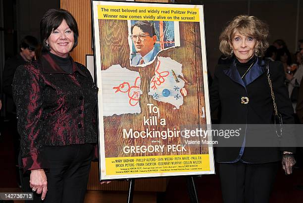 Actress Mary Badham and Veronique Peck attend The Academy Of Motion Picture Arts And Sciences Presents The 50th Anniversary Screening Of To Kill A...