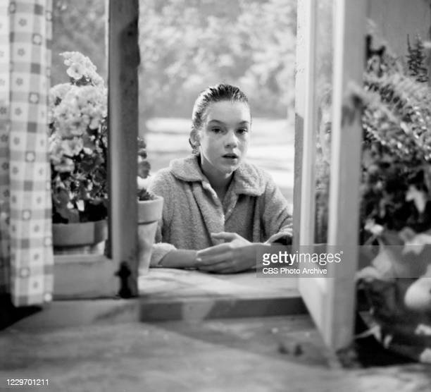 """Actress Mary Badham is shown here in 'The Bewitchin' Pool' episode of the CBS television series """"The Twilight Zone"""" on June 19, 1964."""
