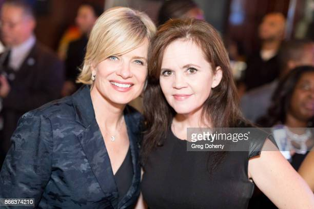 Actress Mary Beth Evans and Crystal Ayers attend the Cast Premiere Screening Of Lany Entertainment's 'The Bay' Season 3 After Party at 33 Taps...