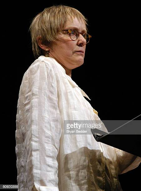Actress Mary Beth Hurt reads a short story at the Symphony Space with David Sedaris presents selected shorts June 2 2004 in New York City