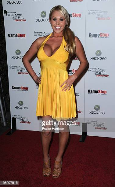 Actress Mary Carey arrives at Tom Clancy's Splinter Cell Conviction Launch event at Les Deux on April 1 2010 in Los Angeles California