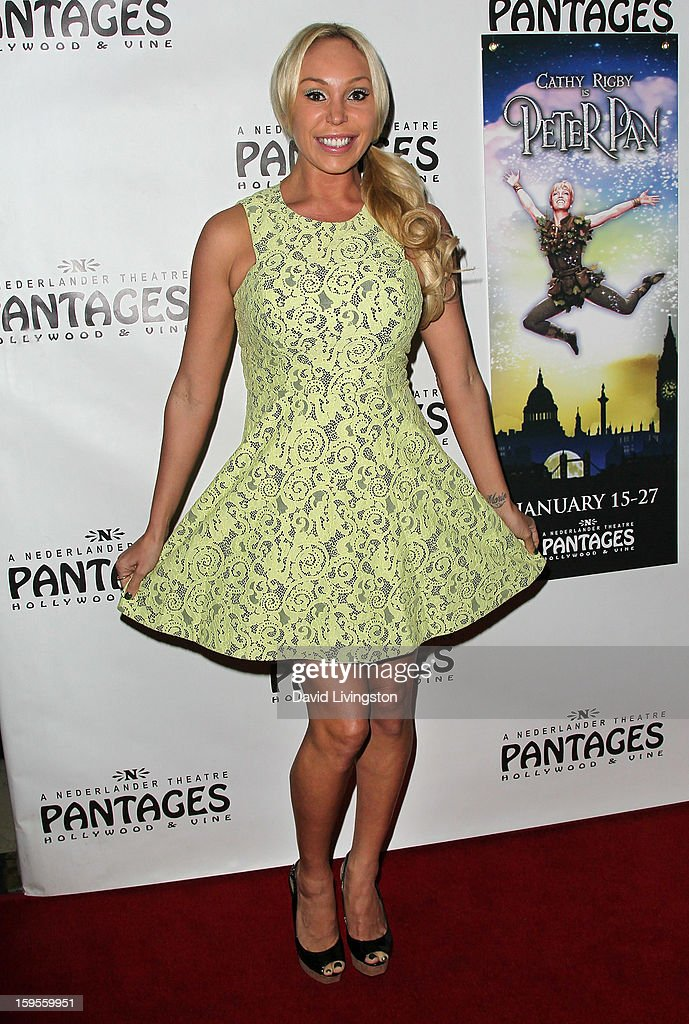 Actress Mary Carey attends the opening night of 'Peter Pan' at the Pantages Theatre on January 15, 2013 in Hollywood, California.