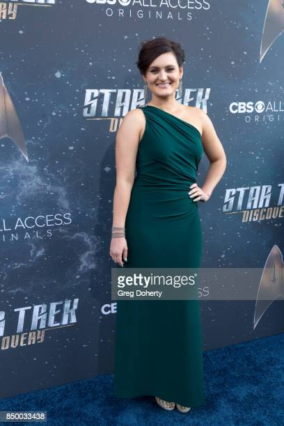 Actress Mary Chieffo arrives for the Premiere Of CBS's 'Star Trek Discovery' at The Cinerama Dome on September 19 2017 in Los Angeles California