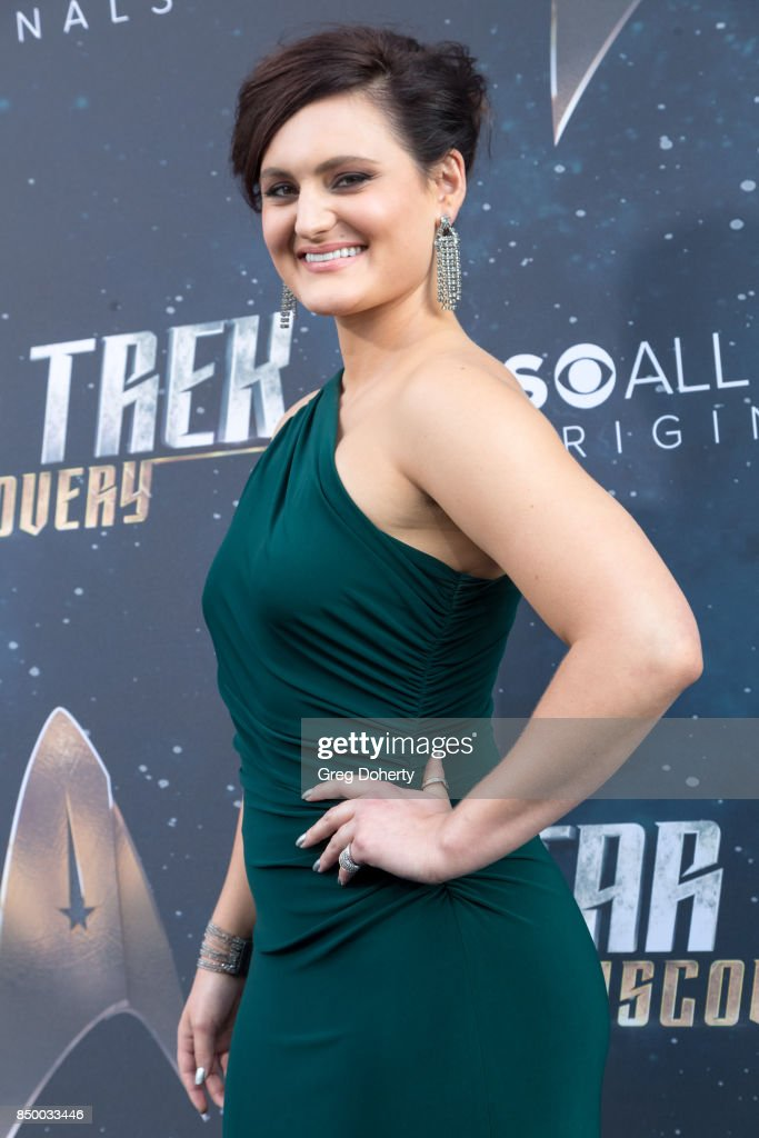 Actress Mary Chieffo arrives for the Premiere Of CBS's 'Star Trek: Discovery' at The Cinerama Dome on September 19, 2017 in Los Angeles, California.