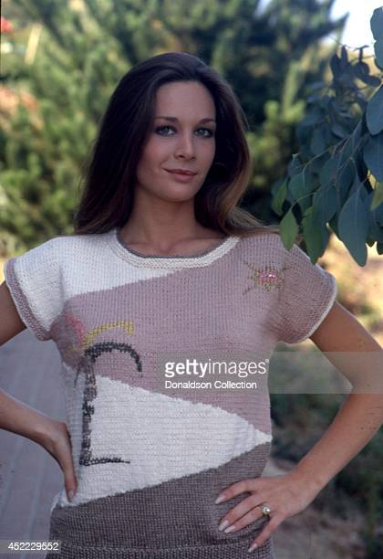 Actress Mary Crosby poses for a portrait session at home in circa 1980 in Los Angeles California