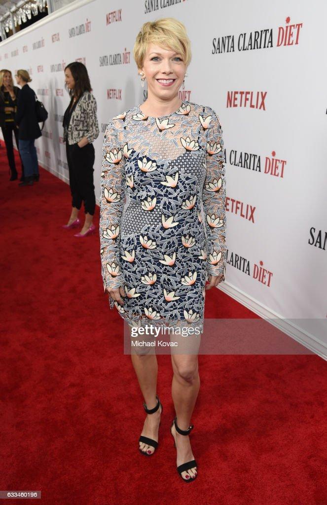 Actress Mary Elizabeth Ellis attends the 'Santa Clarita Diet' Premiere on February 1, 2017 in Los Angeles, California.