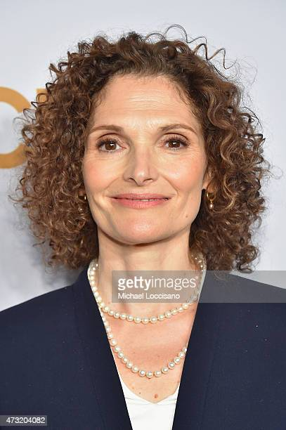 Actress Mary Elizabeth Mastrantonio attends the 2015 CBS Upfront at The Tent at Lincoln Center on May 13 2015 in New York City