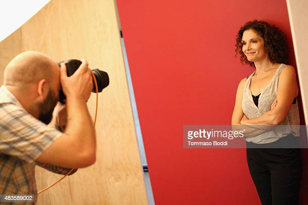 Actress Mary Elizabeth Mastrantonio of CBS's 'Limitless' attends Behind The Scenes Of The Getty Images Portrait Studio Powered By Samsung Galaxy At...
